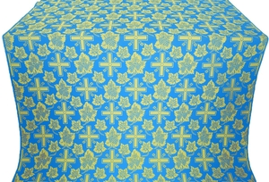 Ajur Cross silk (rayon brocade) (blue/gold)