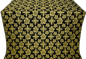 Ajur Cross silk (rayon brocade) (black/gold)