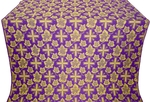 Ajur Cross silk (rayon brocade) (violet/gold)