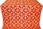 Ajur Cross silk (rayon brocade) (red/gold)