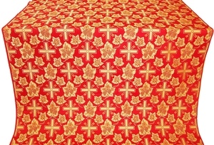 Ajur Cross silk (rayon brocade) (red/gold)