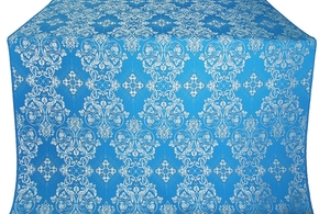 Sloutsk metallic brocade (blue/silver)