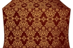 Sloutsk metallic brocade (claret/gold)