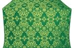 Sloutsk metallic brocade (green/gold)