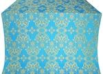 Sloutsk silk (rayon brocade) (blue/gold)