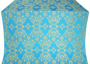 Sloutsk silk (rayon brocade) (blue/gold)