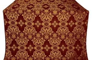 Sloutsk silk (rayon brocade) (claret/gold)