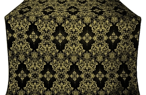 Sloutsk silk (rayon brocade) (black/gold)