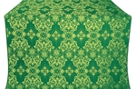 Sloutsk silk (rayon brocade) (green/gold)