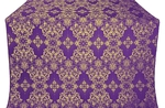 Sloutsk silk (rayon brocade) (violet/gold)