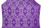 Sloutsk silk (rayon brocade) (violet/silver)