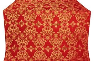 Sloutsk silk (rayon brocade) (red/gold)