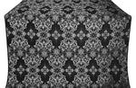 Sloutsk silk (rayon brocade) (black/silver)