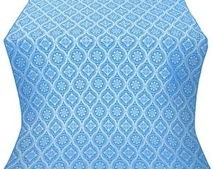 Byzantine metallic brocade (blue/silver)