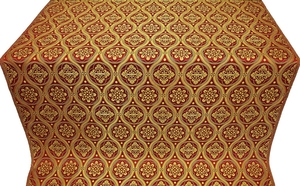 Byzantine metallic brocade (claret/gold)