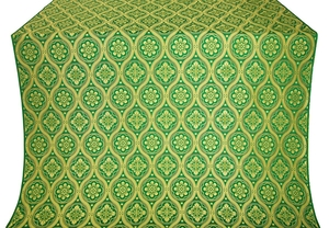 Byzantine metallic brocade (green/gold)