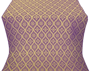 Byzantine metallic brocade (violet/gold)