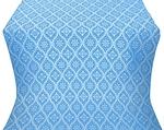 Byzantine silk (rayon brocade) (blue/silver)