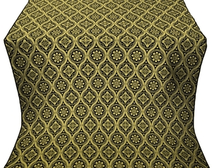 Byzantine silk (rayon brocade) (black/gold)