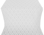 Byzantine silk (rayon brocade) (white/silver)