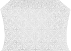 Alania metallic brocade (white/silver)