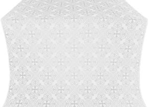 Alania metallic brocade (white/silver)