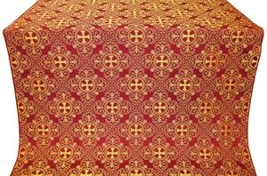 Alania silk (rayon brocade) (claret/gold)