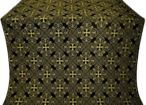Alania silk (rayon brocade) (black/gold)