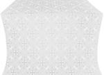 Alania silk (rayon brocade) (white/silver)
