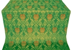 Pavlov Rose metallic brocade (green/gold)