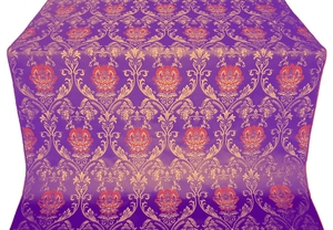 Pavlov Rose metallic brocade (violet/gold)