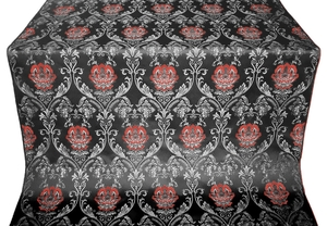 Pavlov Rose metallic brocade (black/silver)