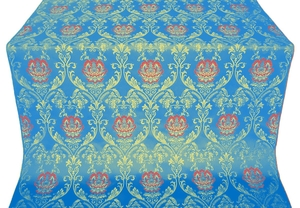Pavlov Rose silk (rayon brocade) (blue/gold)