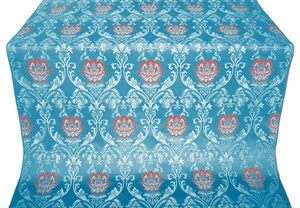 Pavlov Rose silk (rayon brocade) (blue/silver)