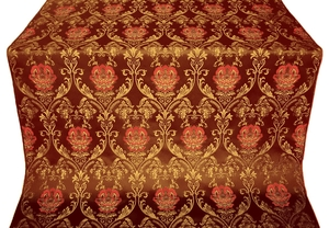 Pavlov Rose silk (rayon brocade) (claret/gold)