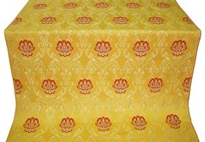Pavlov Rose silk (rayon brocade) (yellow/gold)