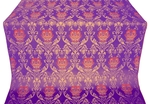 Pavlov Rose silk (rayon brocade) (violet/gold)