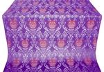 Pavlov Rose silk (rayon brocade) (violet/silver)