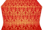 Pavlov Rose silk (rayon brocade) (red/gold)