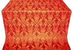 Pavlov Rose silk (rayon brocade) (red/gold)
