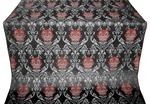 Pavlov Rose silk (rayon brocade) (black/silver)