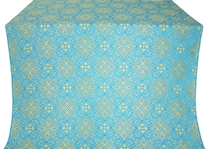 Vilno silk (rayon brocade) (blue/gold)
