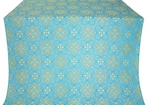 Vilno silk (rayon brocade) (blue/gold)