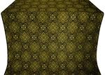 Vilno silk (rayon brocade) (black/gold)