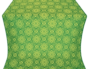 Vilno silk (rayon brocade) (green/gold)