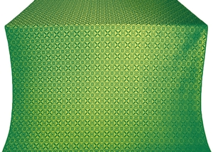 Elets silk (rayon brocade) (green/gold)