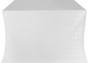 Elets silk (rayon brocade) (white/silver)