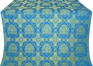 Donetsk silk (rayon brocade) (blue/gold)