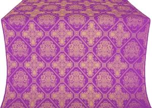 Donetsk silk (rayon brocade) (violet/gold)