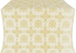 Donetsk silk (rayon brocade) (white/gold)